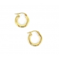 "14Kt Yellow Gold 3mm Hoop Earrings 0.6"" Diameter (1.20gr)"