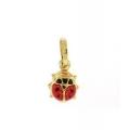 14Kt Yellow Gold Ladybug Charm Pendant (1.00gr)