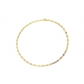 "14Kt Two-tone Elongated ""X"" Shape Necklace (16.90gr)"