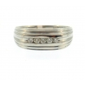 14Kt White Gold Men's Diamond Ring (0.25cts tw)