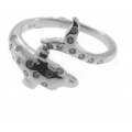 14Kt White Gold Diamond Dolphin Ring (0.15cts tw)