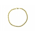 14Kt Yellow Gold 5mm Diamond Cut Rope Bracelet