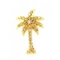 14Kt Yellow Gold Diamond Palm Tree Pendant (0.20cts tw)
