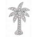 14Kt White Gold Diamond Palm Tree Pendant (0.40cts tw)