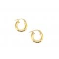 "14Kt Yellow Gold 3mm Hoop Earrings 0.5"" Diameter (1.10gr)"