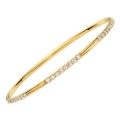 14Kt Yellow Gold Diamond Station Slip On Bangle (2.15cts tw)