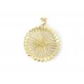 14Kt Yellow Gold Diamond Cut Wire Round Shape Pendant (5.50gr)