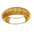 14Kt Yellow Gold 14mm Corrugated Slip-on Bangle (20.00gr)