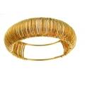 14Kt Yellow Gold 14mm Corrugated Slip-on Bangle (20.00gr)