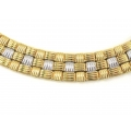 18Kt Two-tone Reversible Necklace (94.5grams)
