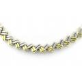18Kt Two-tone Zig-zag Design Necklace (42.8gr)
