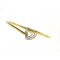 18Kt Yellow Gold Handmade Heart Bangle (9.70gr)