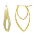 14Kt Yellow Gold Diamond Cut Twisted Oval Earrings (2.70gr)