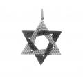 18Kt Black Gold White & Black Diamond Star Of David Pendant (1.64cts tw)