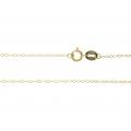 14K Yellow Gold Diamond Cut Link Chain