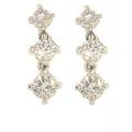 18Kt White Gold Three Diamond Drop Earrings (0.71cts tw)