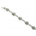 18Kt White Gold Cluster Diamond Bracelet (4.20cts tw)