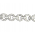 18Kt White Gold Round Bracelet with Baguette & Round Diamonds (6.43cts tw)
