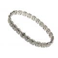 18Kt White Gold Square Diamond Bracelet (2.42cts tw)