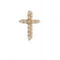 14Kt Rose Gold Diamond Cross Pendant (0.40cts tw)