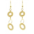 14Kt Yellow Gold Interlocking Circle Cut out Earrings (2.80gr)