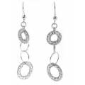 14Kt White Gold Interlocking Circle Cut Out Earrings (2.80gr)