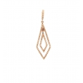 14Kt Rose Gold Geometric Diamond Pendant (0.28cts tw)