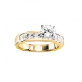 14Kt Yellow Gold Channel Set Princess Cut Engagement Ring (1.00ct tw)