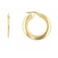 "14Kt Yellow Gold 2mm Satin Hoop Earrings 1"" Diameter (2.10gr)"