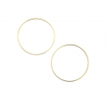 "14kt Yellow Gold 1.2mm Continuous Hoop Earrings 1.75"" Diameter (2.20gr)"