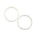 "14kt Rose Gold 1.2mm Continuous Hoop Earrings 1.75"" Diameter (2.30gr)"