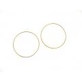 "14kt Yellow Gold 1.2mm Continuous Hoop Earrings 2"" Diameter (2.60gr)"