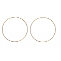 "14kt Rose Gold 1.2mm Continuous Hoop Earrings 2"" Diameter (2.70gr)"