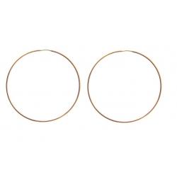 "14kt Rose Gold 1.2mm Continuous Hoop Earrings 2"" Diameter (2.70gr)"