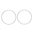 "14kt White Gold 1.2mm Continuous Hoop Earrings 2"" Diameter (2.60gr)"