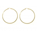 "14Kt Yellow Gold 2mm Hoops 2"" Diameter (3.40gr)"