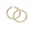 "14Kt Yellow Gold 3mm Hoop Earrings 1"" Diameter (2.40gr)"