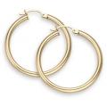 "14Kt Yellow Gold 3mm Hoop Earrings 1.75"" Diameter (4.30gr)"