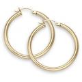 "14Kt Yellow Gold 3mm Hoop Earrings 2.25"" Diameter (5.30gr)"