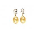 14Kt Two-tone Shiny & Satin Finish Gucci Dangle Earrings (5.40gr)