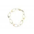 14Kt Yellow Gold Oval & Diamond Shape Link Bracelet (4.00gr)