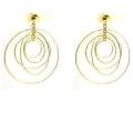 14Kt Yellow Gold Multi Twisted Wire Galaxy Earrings (3.90gr)