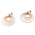 14Kt Rose Gold Multi Twisted Wire Galaxy Earrings (3.90gr)