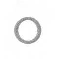 18Kt White Gold  Pavé Diamond Circle of Life Pendant  (1.69cts tw)