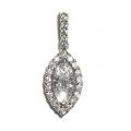 18Kt White Gold Marquis Diamond Pendant (0.59cts tw)
