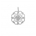 18Kt White Gold Lace Design Diamond Pendant (1.70cts tw)