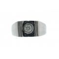18Kt White Gold Men's Diamond Ring (0.23cts tw)