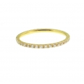 18Kt Yellow Gold Round Diamond Eternity Band (0.42cts tw)