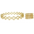 14Kt Yellow Gold Bracelet Convertible to Ring (1.25cts tw)