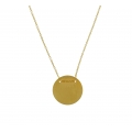 14KT Gold Round Disc Necklace